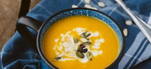 Soupe de carottes rôties au cumin