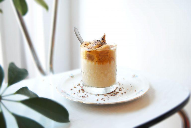 Dalgona coffee sans sucre