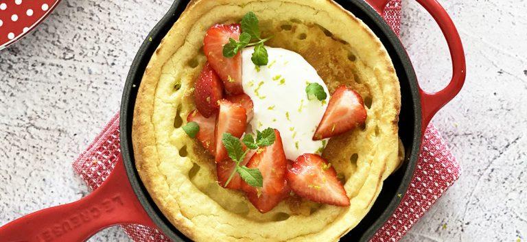 Dutch baby pancakes aux fraises