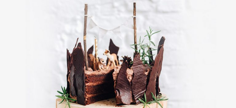 Cake au chocolat (vegan) des bois
